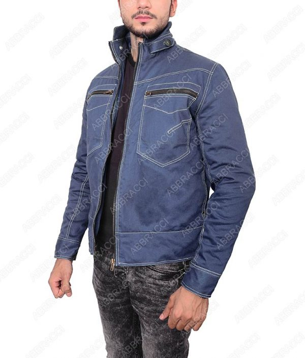 Beauty-and-the-Beast-Zipper-Blue-Outerwear