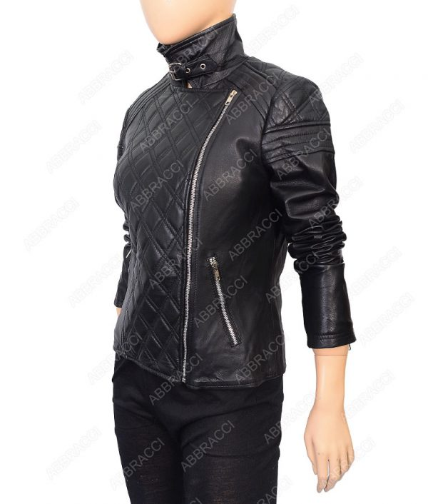 Belted-Collar-Black-Leather-Jacket