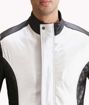 Spade-Silver-Black-Leather-Bomber-Jacket