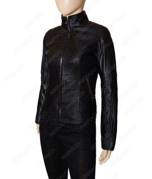 Ladies-Black-Leather-Jacket