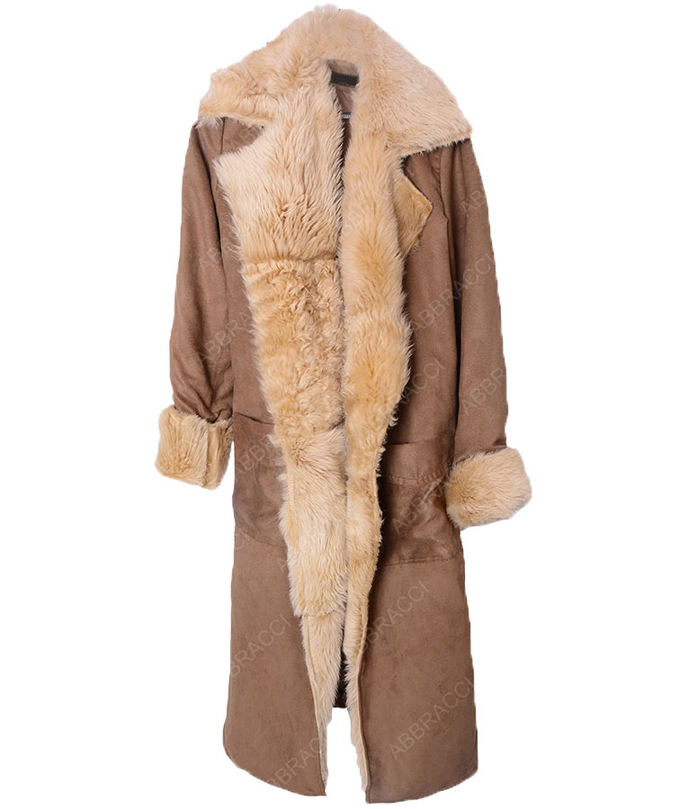 Sara-Lance-Brown-Cotton-Fur-Coat