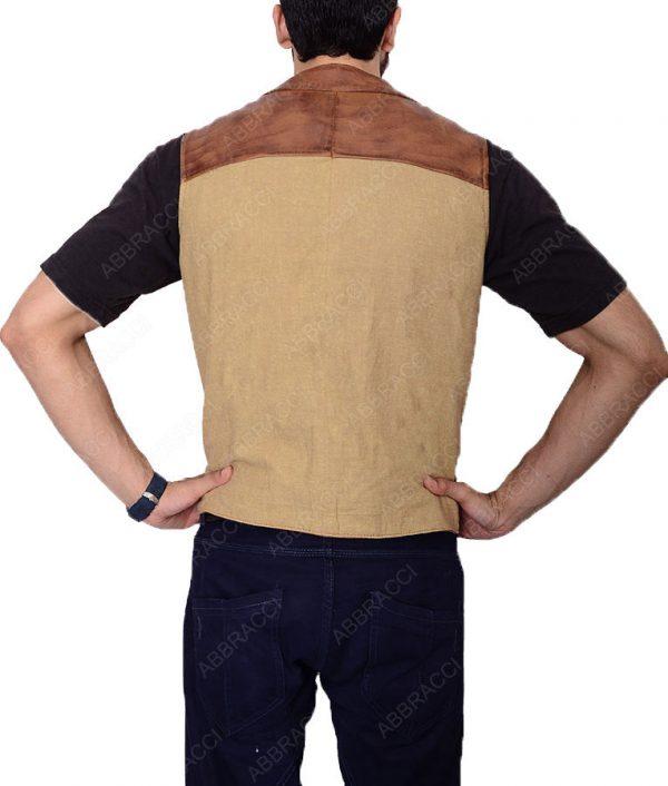 Brown-John-Wayne-The-Cowboys-leather-Vest
