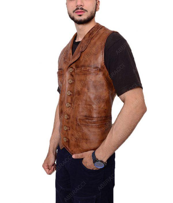 Distressed-Leather-John-Wayne-Brown-Vest
