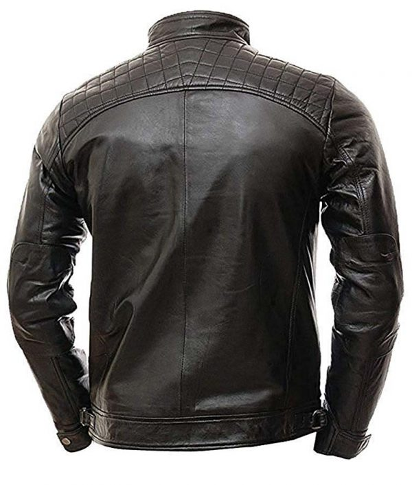 Mens Vintage Shade Quilted Padded Wax Jacket Image 1