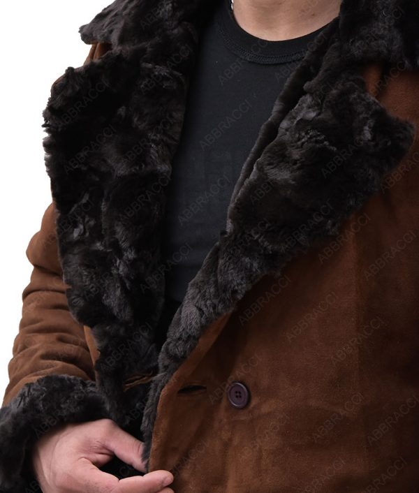 Snatch-Mickey-Brad-Pitt-Brown-Suede-Shearling-Coat