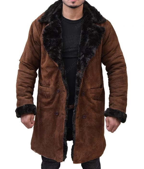 Snatch-Mickey-Brad-Pitt-Brown-Suede-Shearling-Coat-1