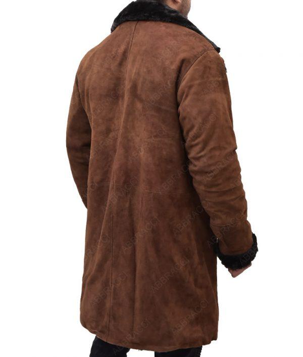Brad-Pitt-Brown-Suede-Shearling-Coat