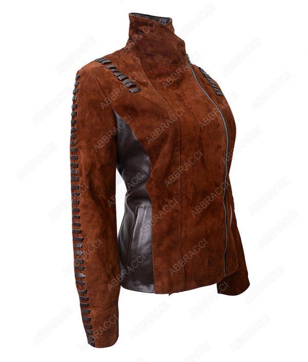 Womens-Suede-Leather-Biker-Jacket