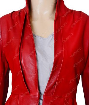 Womens-Red-Designer-jacket
