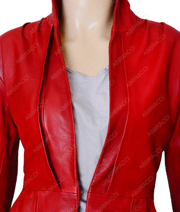 Womens-Red-Designer-jacket