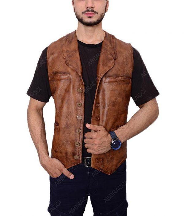 The-Cowboys-Brown-Button-Vest