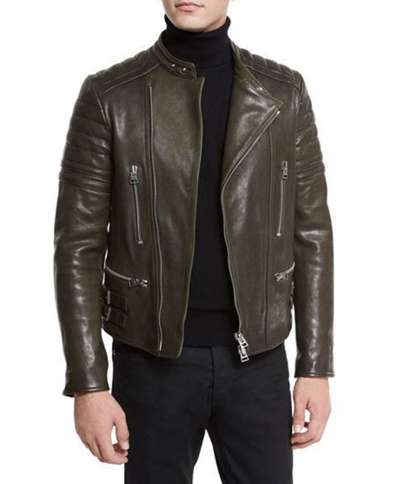 Mens-Brown-Quilted-Jacket