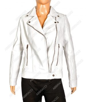 Womens-Motorcycle-White-Jacket