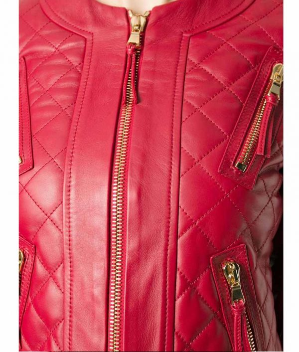 Womens-Red-Quilted-Jacket