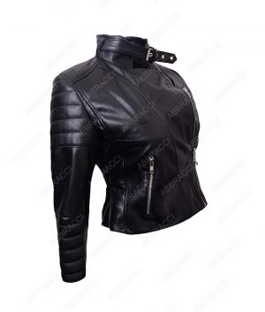 Womens-Black-Motorcycle-Jacket