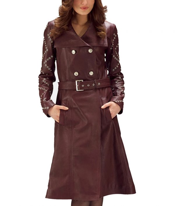 Maroon-Studded-Long-Jacket-1