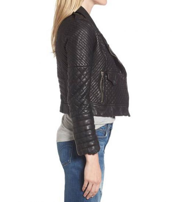 Womens-Black-Biker-Quilted-Jacket