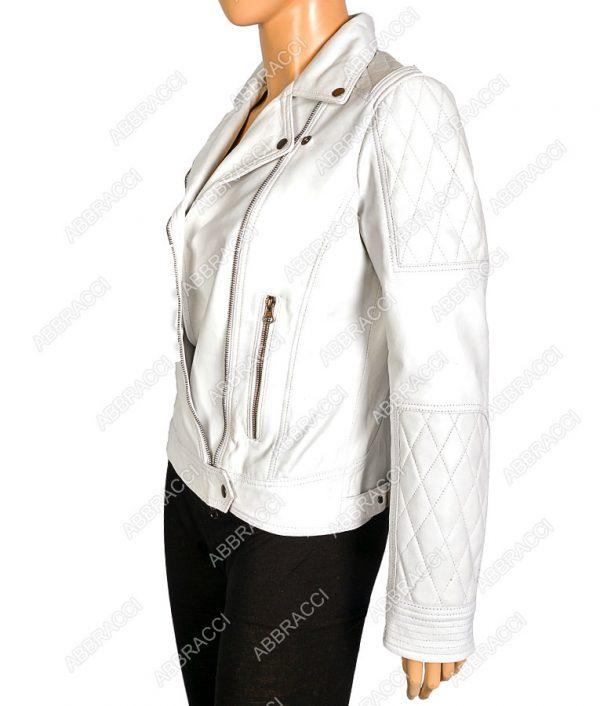 Womens-Front-Zipper-Biker-Jacket