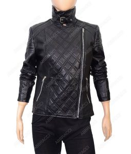 Stand-Collar-Black-Biker-Jacket