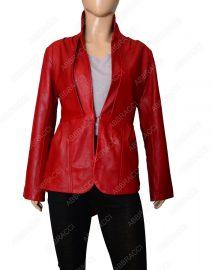 Womens-Stylish-Red-leather-jacket