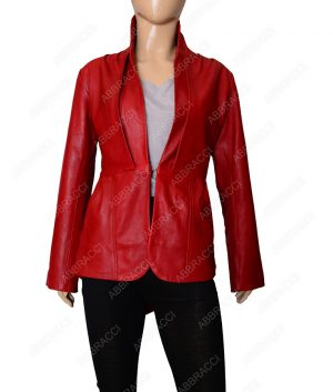 Womens-Stylish-Red-leather-jacket