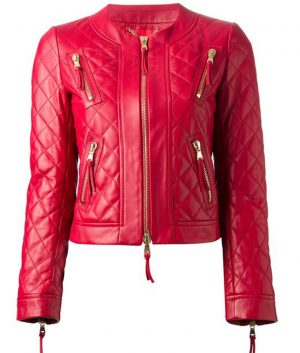 Womens-Casual-Red-jacket