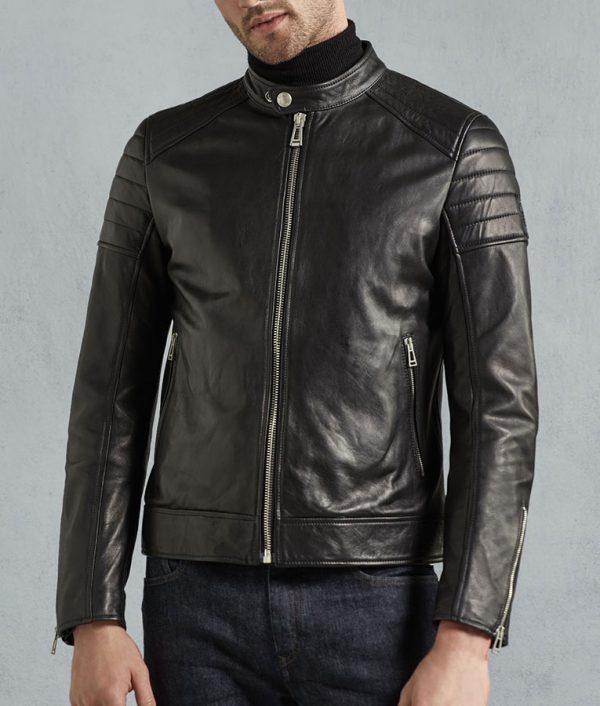 Chambers Mens Black Tumbled Biker Jacket