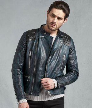 Clark Mens Antique Lagoon Leather Jacket