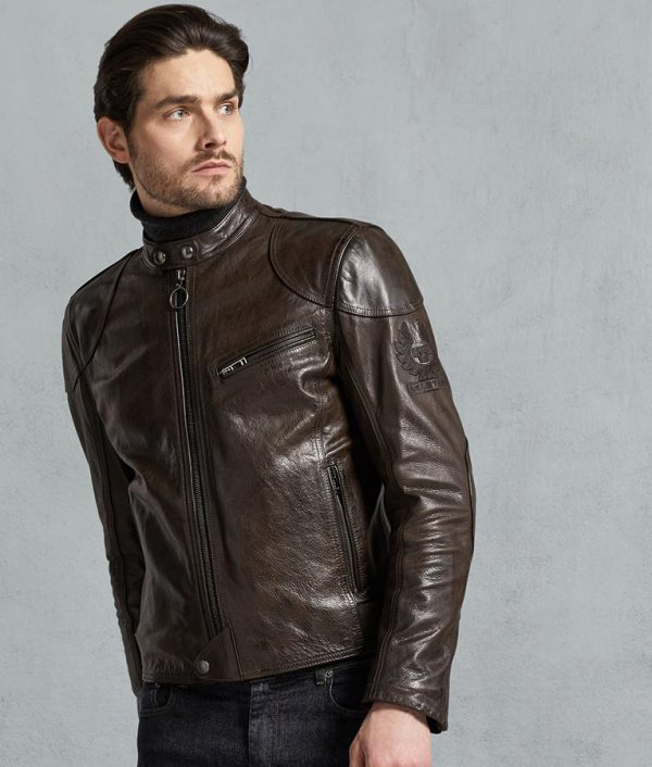 Gomez Mens Hand Waxed Leather Jacket