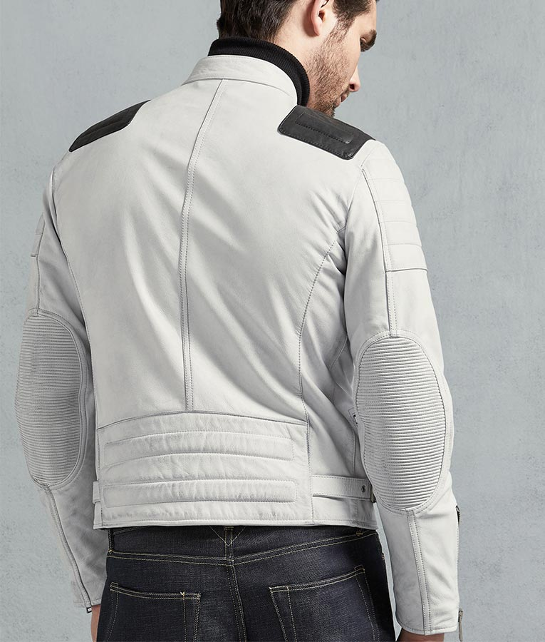 Elegant Series Distressed Biker Genuine Leather Brown Hand Waxed Jacket