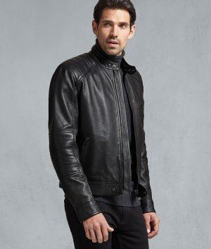 Matthew Mens Slimfit Black Calfskin Jacket
