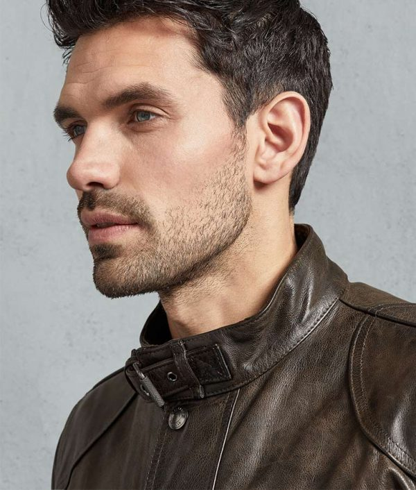 Neil Mens Leather Hand Waxed Jacket