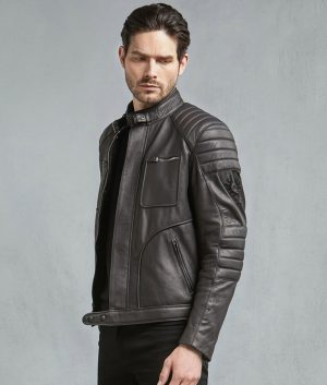 Wester Mens Bovine Leather Motorcycle Jacket