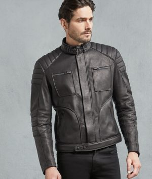 Wester Bovine Leather Black Motorcycle Jacket