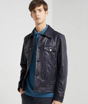 Adam Mens Turn Leather Jacket