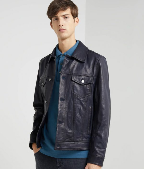 Adam Mens Turn Leather Jacket