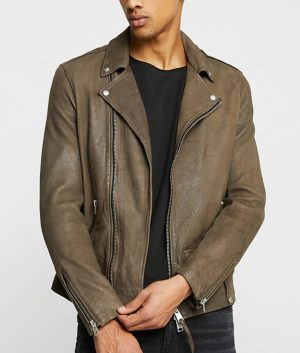 Austin Mens Lapel Collar Leather Jacket