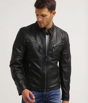 Buckland Mens Leather Jacket
