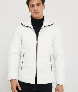 Christopher Mens lined Collar Casual Leather Jacket