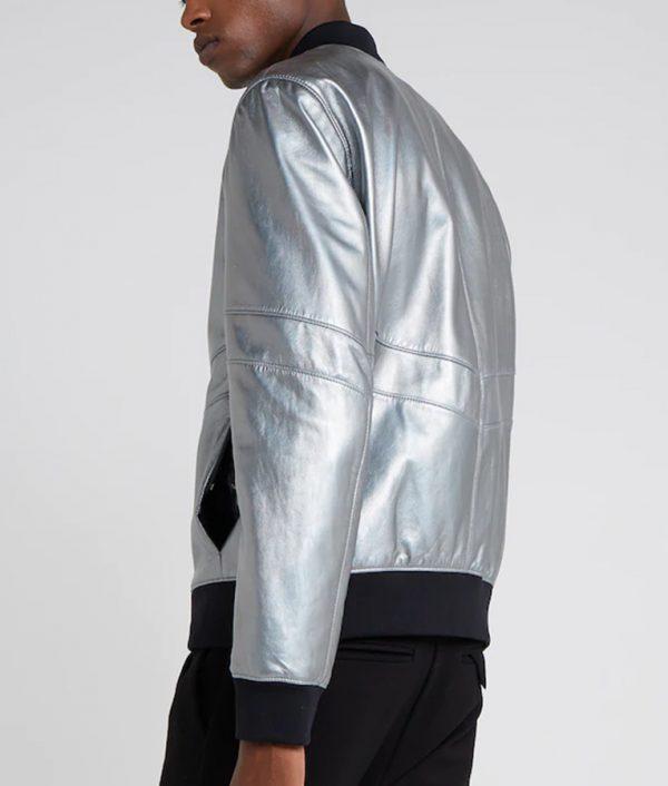 Eric Mens Standing Collar Bomber Café Racer Leather Jacket