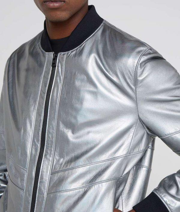 Eric Mens Standing Collar Café Racer Leather Jacket