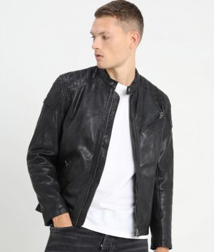 Fernandes Mens Padded Shoulder Black Jacket