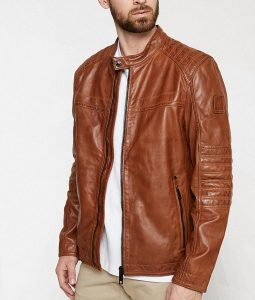 Paterson Mens Casual Café Racer Leather Jacket