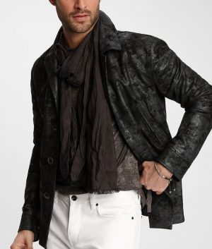 Alvin Mens Turn Down Collar Fully Lined Casual Leather Jacket