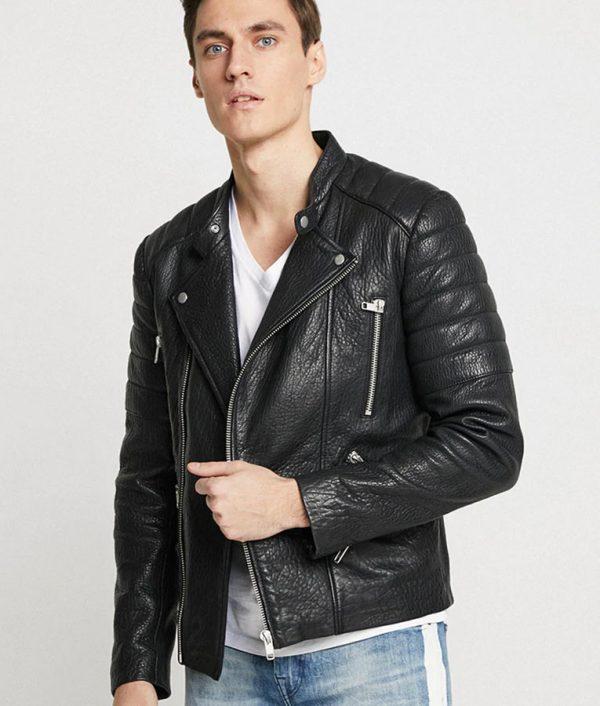 Antonio Mens Lapel collar Padded Shoulders Black Jacket