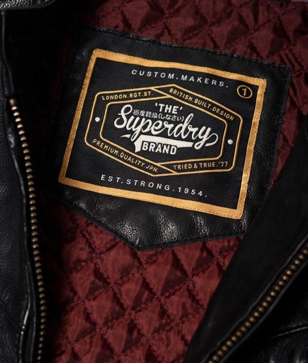 Bryant Mens Madarian Collar Slimfit Black Leather Jacket