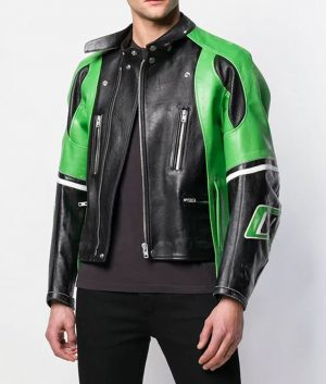Cavallaro Mens Slimfit Cafe Racer Leather Jacket