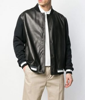 Christopher Mens Slimfit Casual Style Bomber Leather Jacket