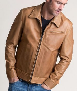 Donald Mens Casual Argentine Leather Jacket