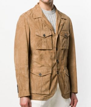Douglas Mens Sand Brown Color Leather Jacket